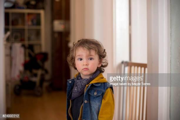 Boy in corridor