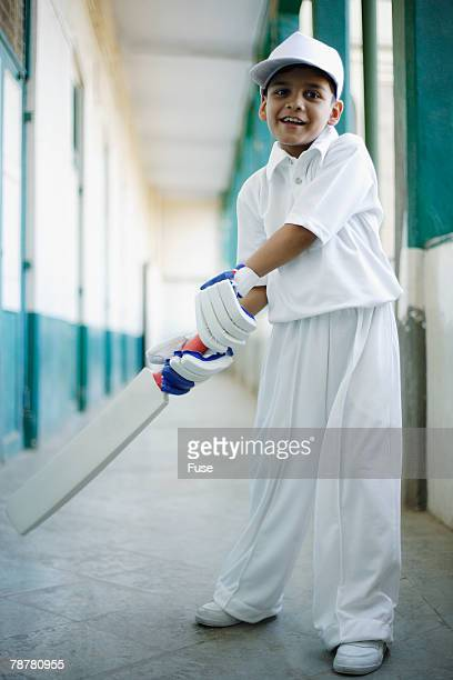 Boy in Cricket Outfit