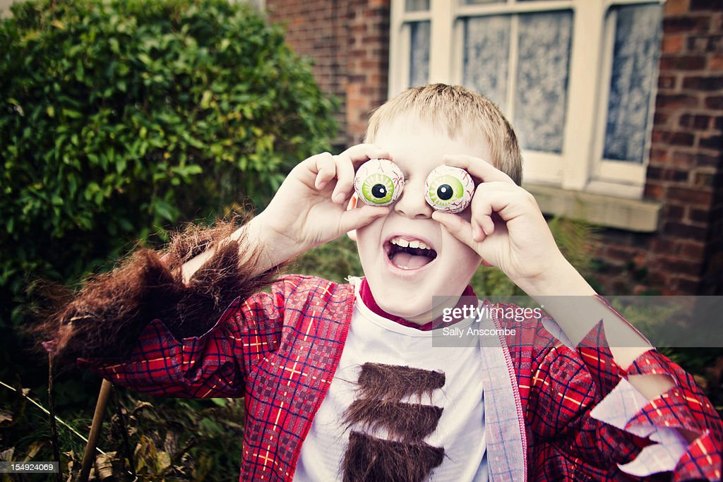 Boy in halloween dress : Stock Photo
