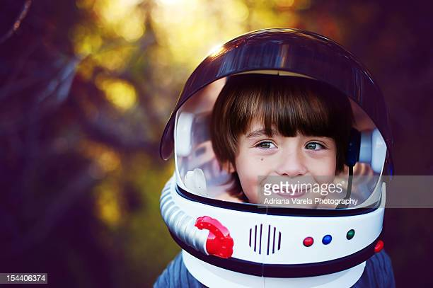 boy in helmet - imagination stock pictures, royalty-free photos & images
