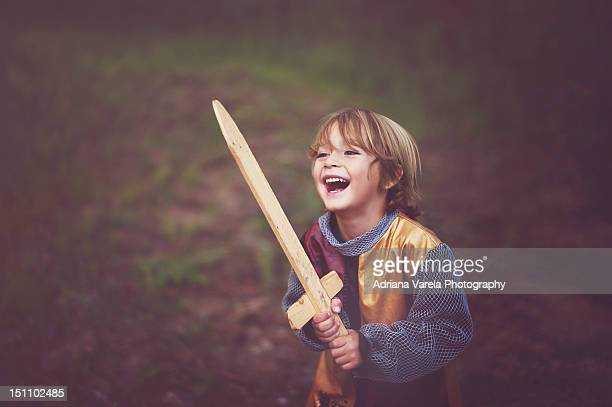 boy in knight costume - ritter stock-fotos und bilder
