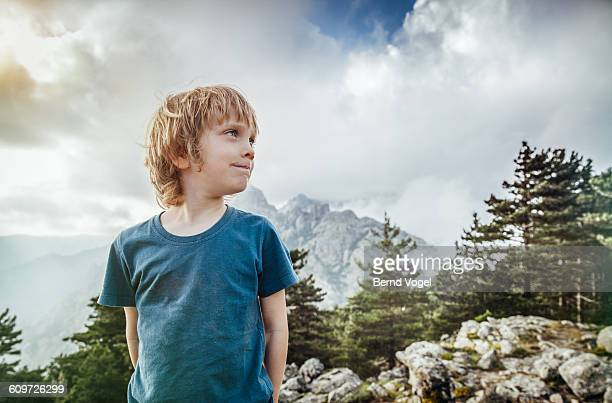 boy in nature - t shirt stock pictures, royalty-free photos & images