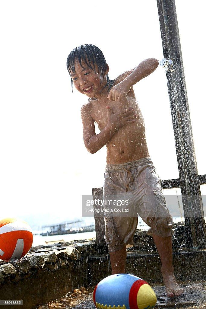 Boys shower