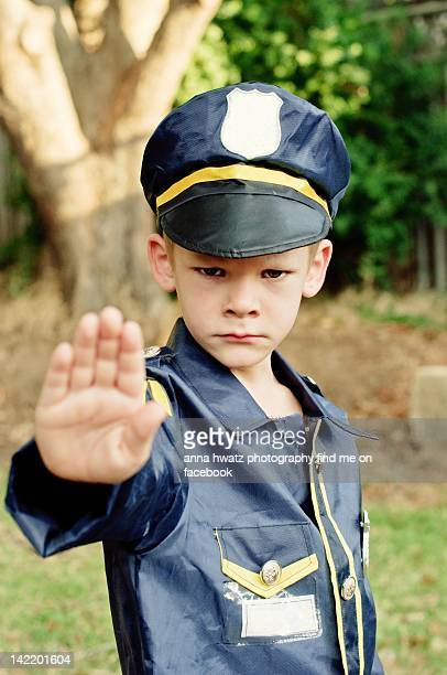 Boy in Police uniform