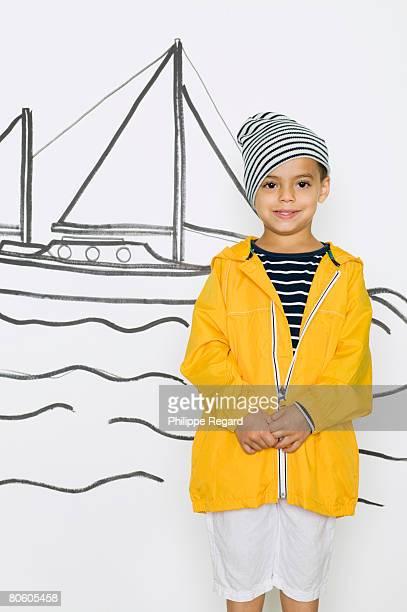 Boy in sailing attire