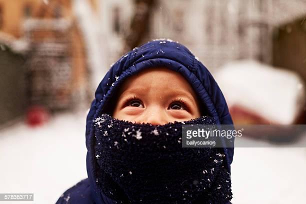 Boy in snow