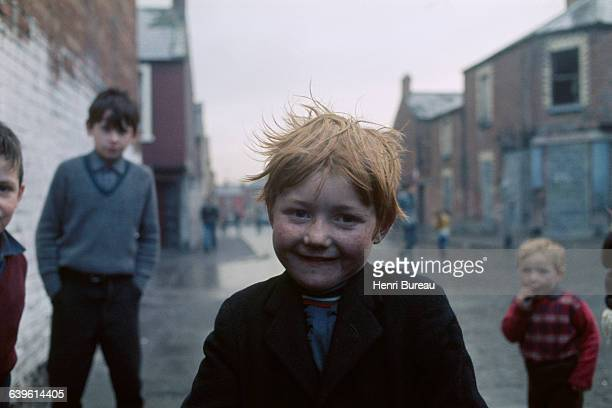 Boy in the streets of Belfast