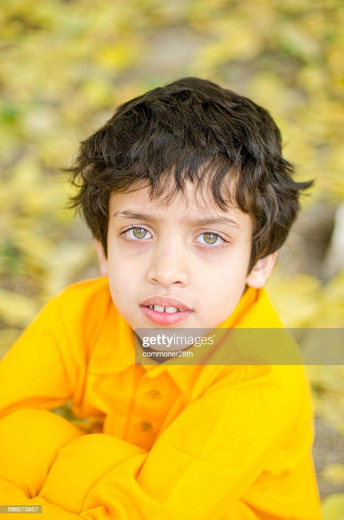 Boy In yellow Dress : Stock Photo