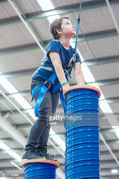 Boy Indoor Rock Climbing