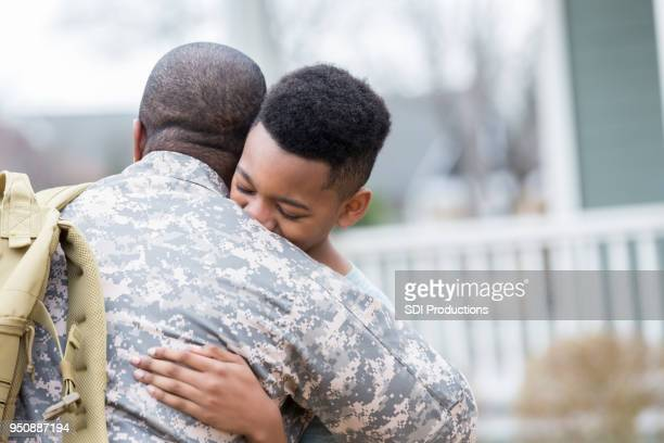 Boy is reunited with military dad