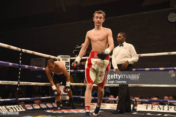 Boy Jones Jnr defeats Andis Didzus in a Lightweight contest at Brentwood Centre on June 2 2017 in Brentwood England