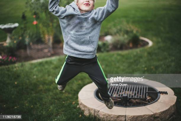 Boy Jumping at the camera
