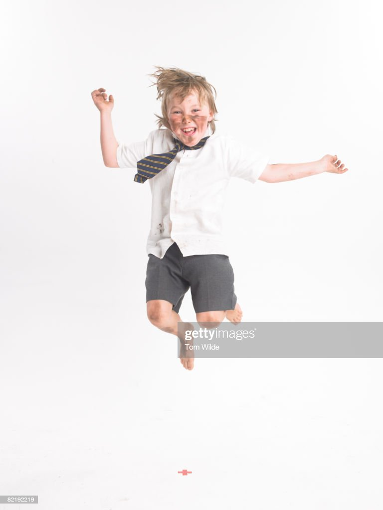 Boy jumping : Stock Photo