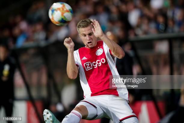 Boy Kemper of Ajax U23 during the Dutch Keuken Kampioen Divisie match between Ajax U23 v Almere City at the De Toekomst on August 30, 2019 in...