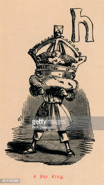 A Boy King' c1860 A caricature of Edward V From The Comic History of England Volume I by Gilbert A A'Beckett [Bradbury Agnew Co London ] Artist John...