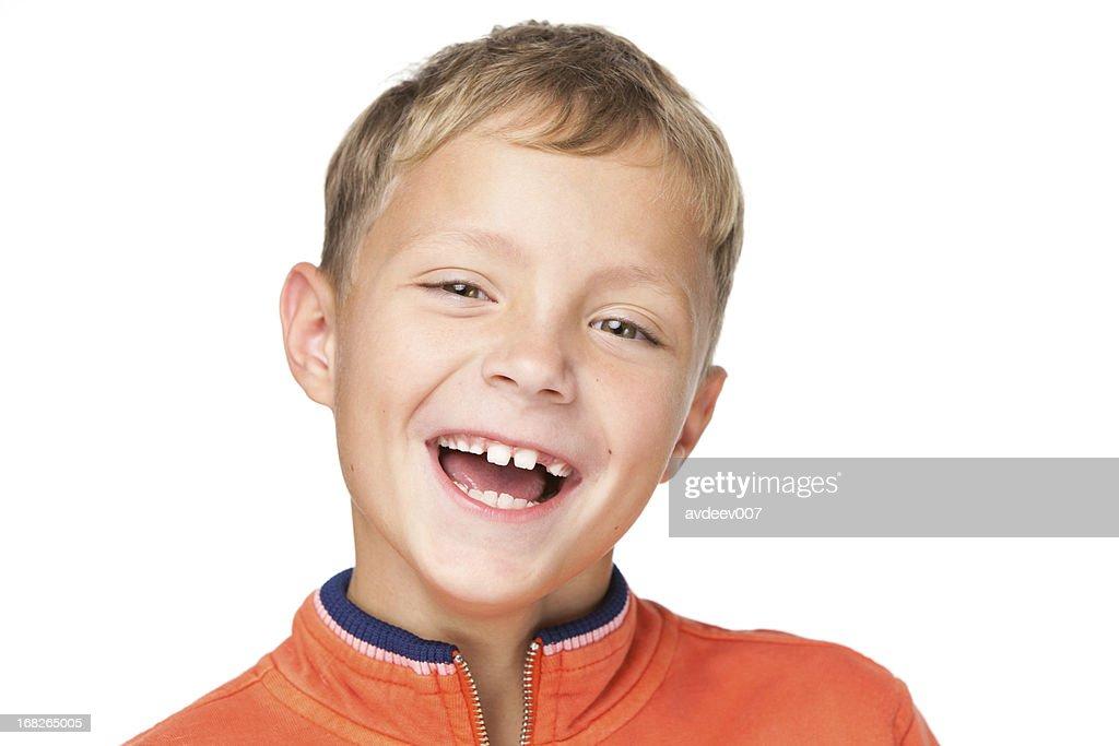 Niño sonriente : Foto de stock