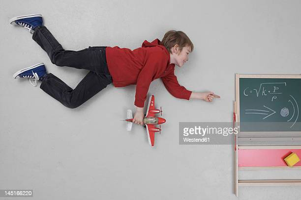 Boy learning speed of sound