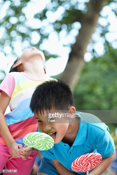 Boy Licking Girls Lollipop