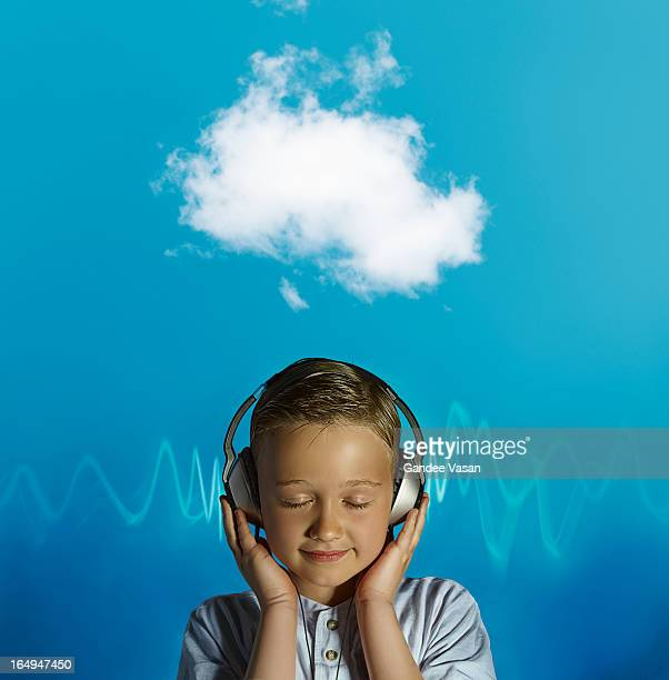 Boy listening on Headphones