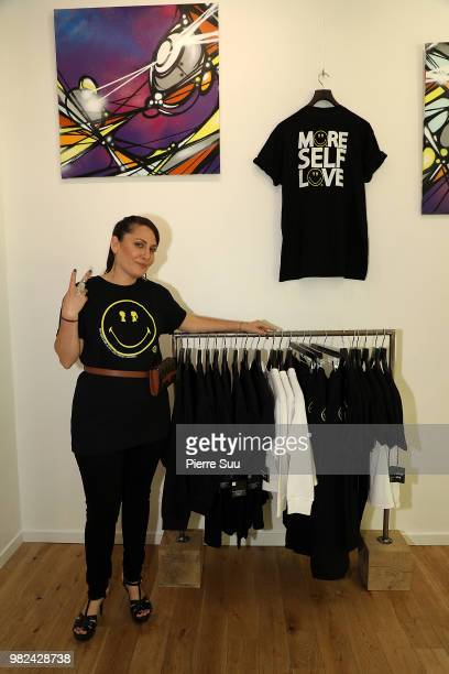 Boy meets girl founder Stacy Igel attends the Boy Meets Girl Black Label X Smiley Original as part of Paris Fashion Week on June 23 2018 in Paris...