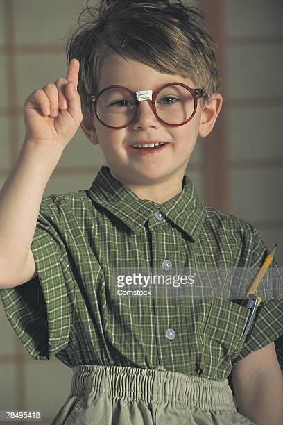 Boy nerd
