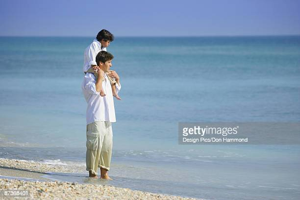 Boy on Father's Shoulders