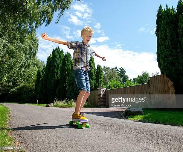 Boy on scateboard