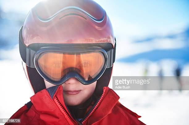 Boy on skiing holiday