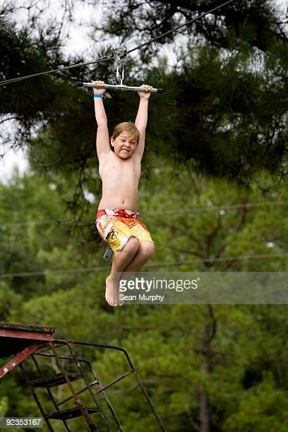 Boy on zipline