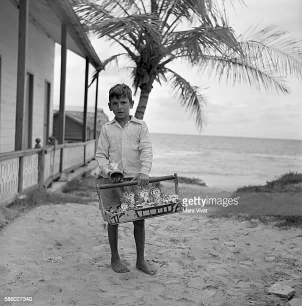 Boy Peddling Souvenirs at Varadero Beach