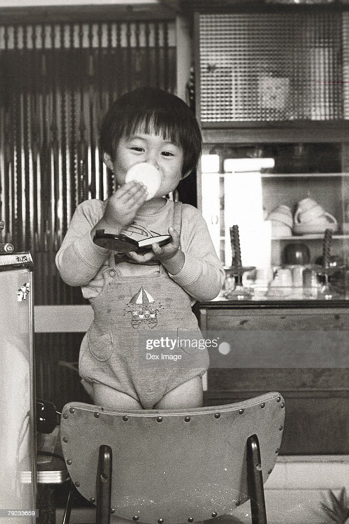 Boy playing at home : Stock Photo