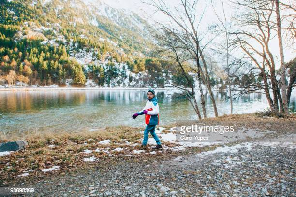 boy playing snow in panticosa , pyrenees,spain - 2016 stock pictures, royalty-free photos & images
