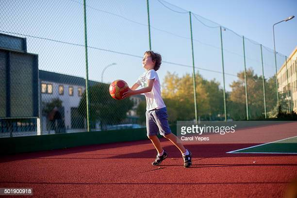 boy playing sports