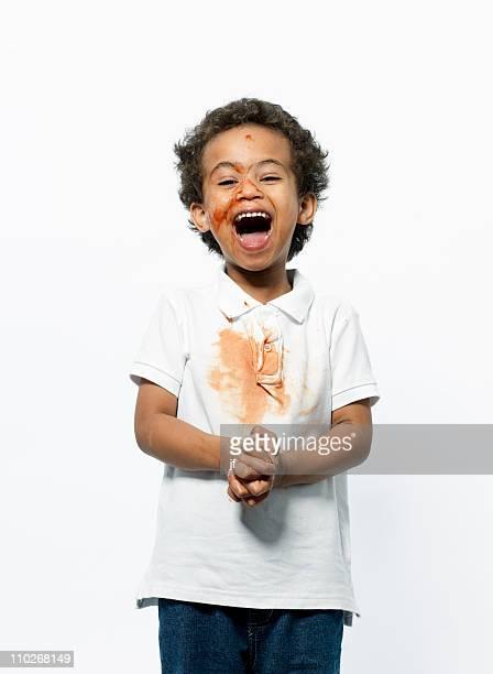boy playing with jam - mani incrociate foto e immagini stock