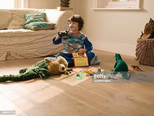 Boy playing with toys
