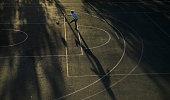 samara russia boy plays football embankment