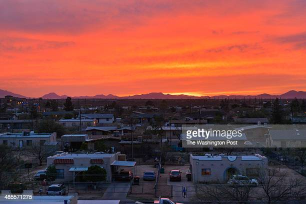 A boy plays on Thursday March 20 2014 on the Pascua Yaqui Indian Reservation Arizona