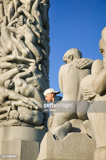 Boy Posing at Vigeland Sculpture Park