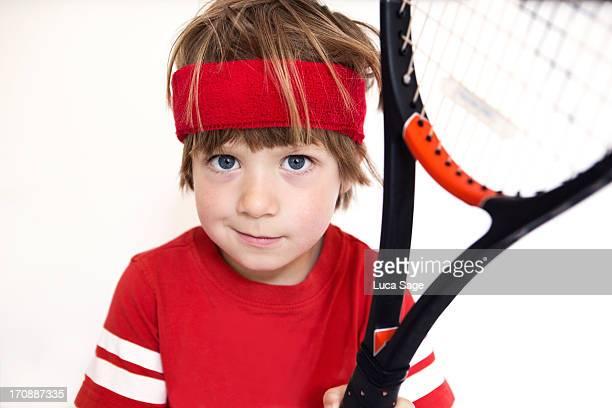 Boy Ready for Tennis