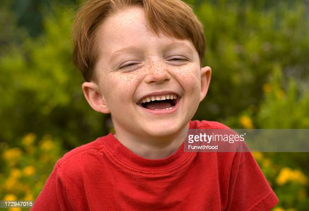 Boy Redhead Smiling, Laughing Happy Child