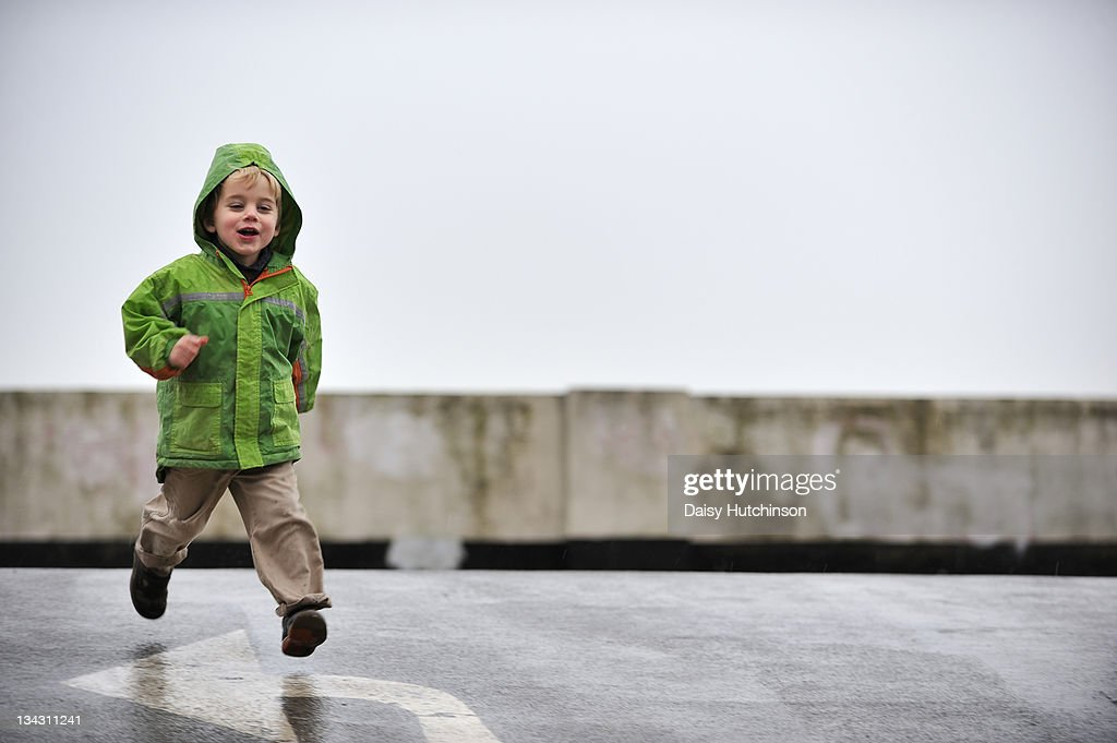 Boy running : Stock Photo