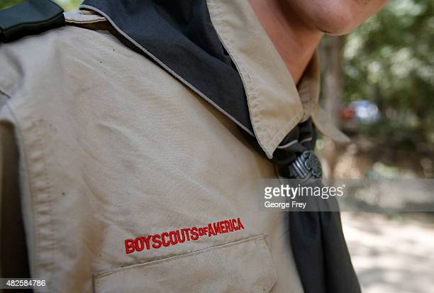 Boy Scout attends camp Maple Dell on July 31 2015 outside Payson Utah The Mormon Church is considering pulling out of its 102 year old relationship...