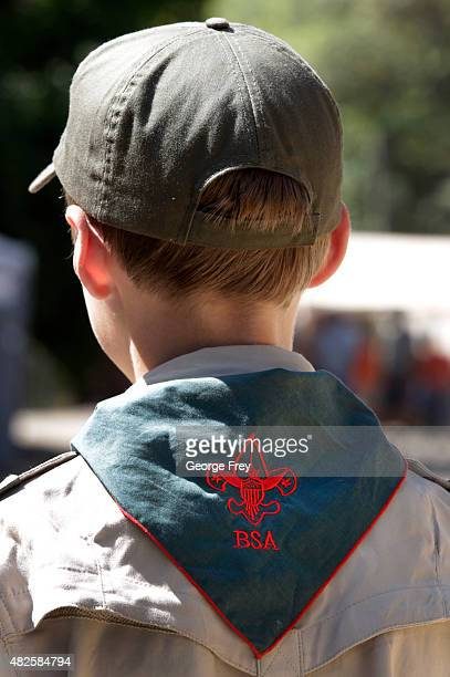 Boy Scout listens to instruction at camp Maple Dell on July 31 2015 outside Payson Utah The Mormon Church is considering pulling out of its 102 year...
