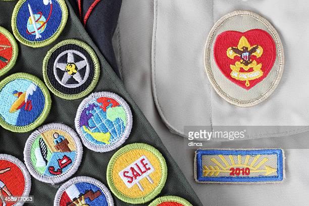 Boy Scout Shirt, Rank Badge, Merit Badges, Arrow of Light