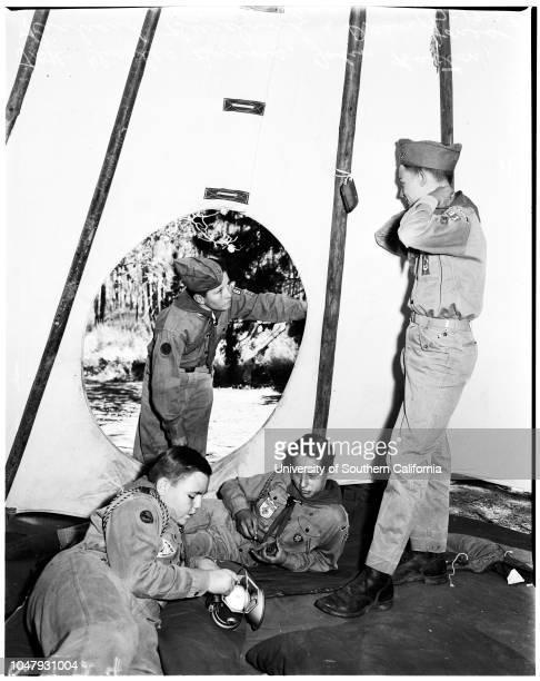 Boy Scouts camping at Lake Arrowhead 16 July 1958 Charles Burns 13John Barton 12Richard Burinda 13Dean Jones 12Michael O'Dell 13John Powell 11Bill...