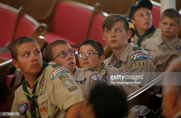 Boy scouts from Troop 351 St Charles Missouri visit the Sixteenth Street Baptist Church is shown Friday June 19 in Birmingham Ala