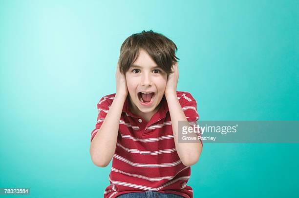 Boy shouting