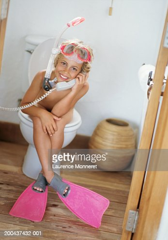 from Curtis girls sitting nude on toilet