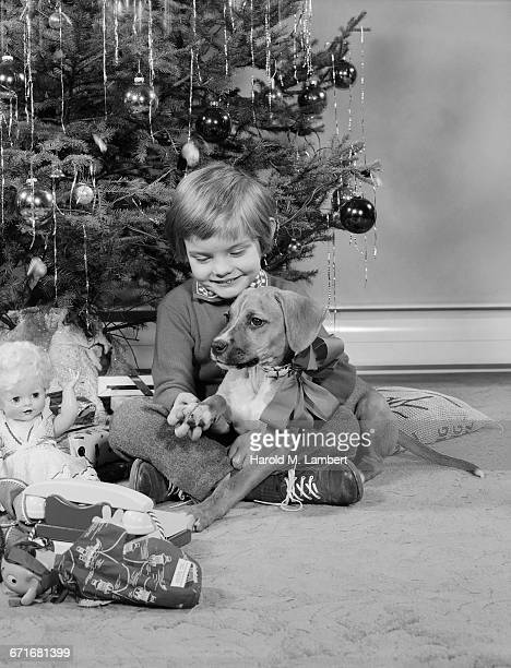 boy sitting with dog and smiling - {{relatedsearchurl(carousel.phrase)}} fotografías e imágenes de stock
