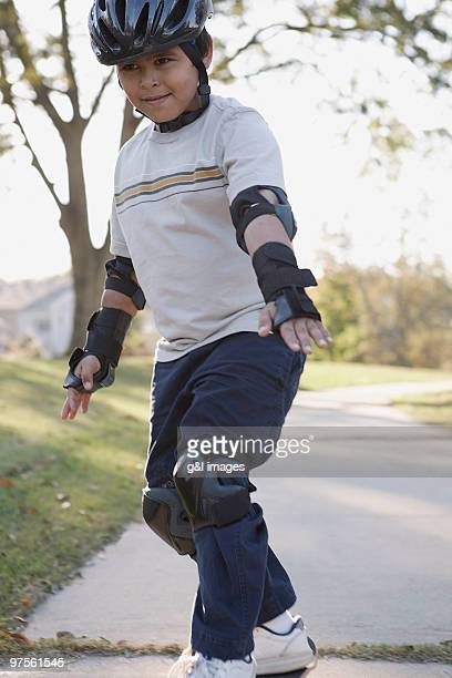 boy skateboarding - padding stock photos and pictures